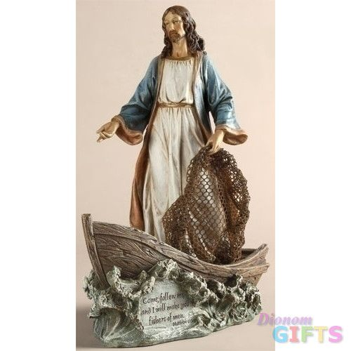 "11.25"" Christ The Fisherman Set of 2"