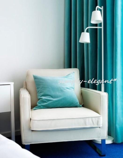 Ikea Sanela Cushion Cover Turquoise Velvet Pillow Cover 100% Cotton - New #IKEAIKEAofSwededn