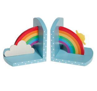 Wooden Rainbow Bookends