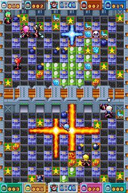 Bomberman Land Touch 2 para NDS. Es un juego de puzzle muy divertido para pasar un buen rato con tus amigos y familiares, también puede jugar con Emulador.
