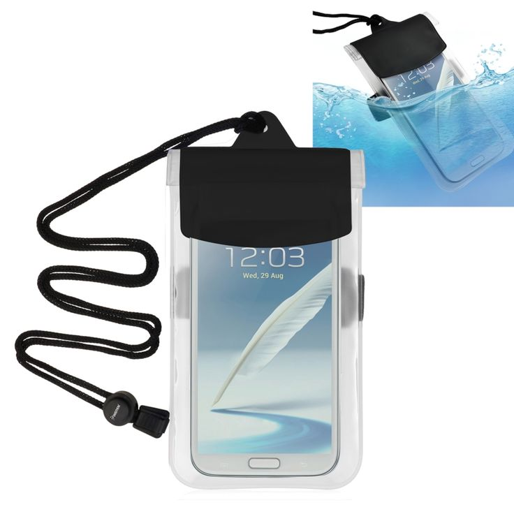 Insten Universal Waterproof Pouch Dry Bag Case with Armband Lanyard for Cell phones, Clear
