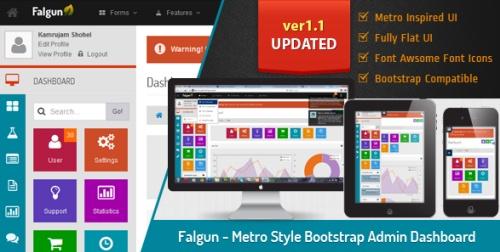 ThemeForest - Falgun v1.1 - Metro Style Bootstrap Admin Dashboard