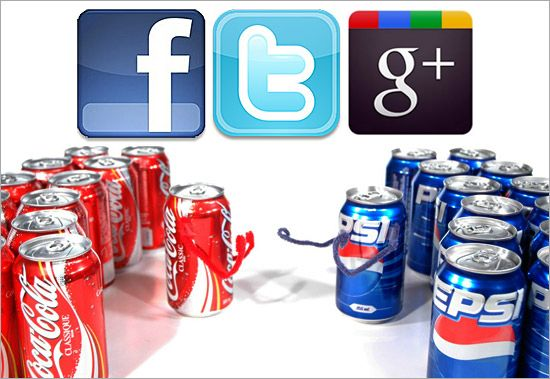 This article illustrates the social media battle between Coca-Cola and Pepsi.