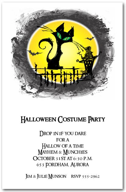 97 best Halloween Invitations images – Costume Party Invitation Wording