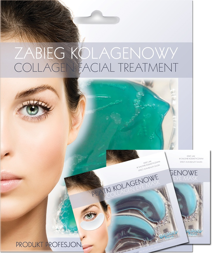 SUPER OFFER SET  Firming & relaxing collagen face mask + 2 pcs ofe eye collagen patch - only 19,90 PLN