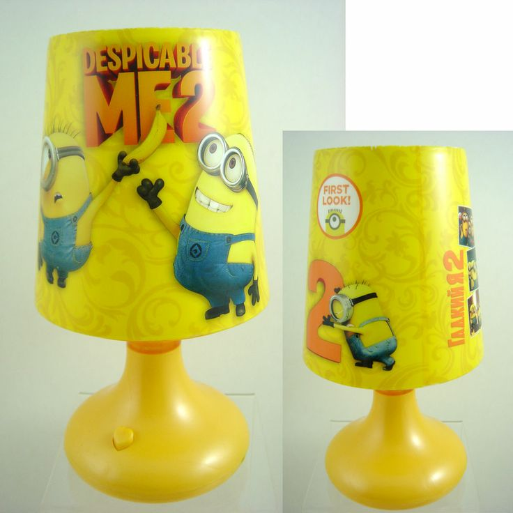 CUTE Despicable Me 2 Minion Children Bedroom Led Lighting Table Lamp In Box