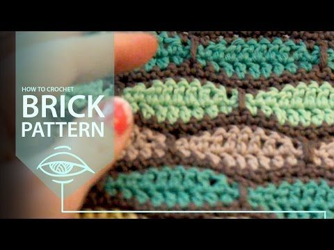 How to Crochet Brick Pattern, My Crafts and DIY Projects