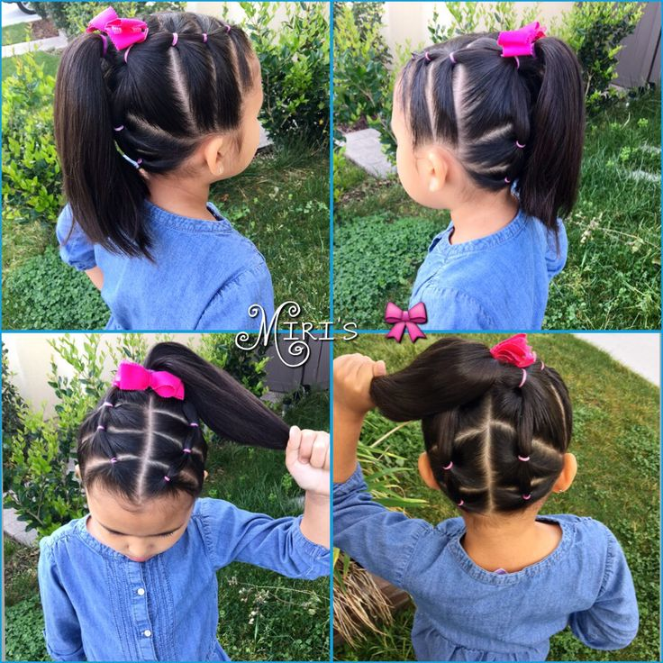 Hair style for little girls with short hair