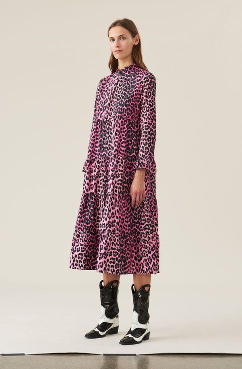 21944244dcc1 Printed Cotton Poplin Love for Leopard Dress