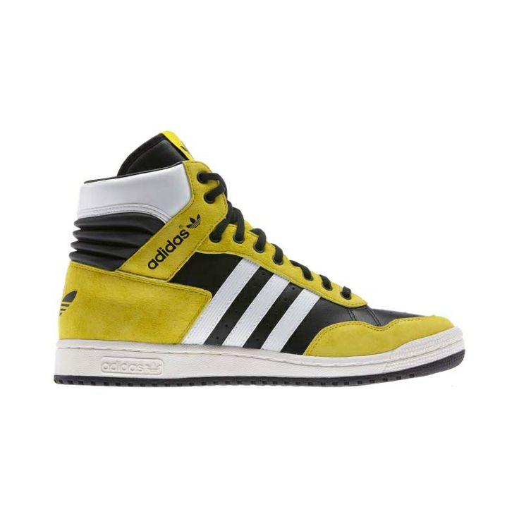 adidas Originals - Pro Conference Hi Black / Vivid Yellow / Running White  (G95984)