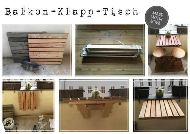 upcycling balkontisch klapptisch holztisch deko tipps pinterest upcycling. Black Bedroom Furniture Sets. Home Design Ideas