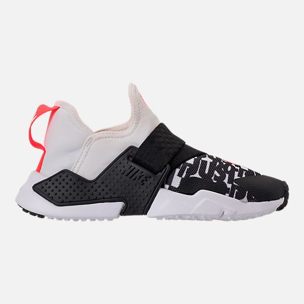 1450e032270 Right view of Kids  Grade School Nike Huarache Extreme Just Do It Print  Running Shoes in White Bright Crimson Black Wolf Grey