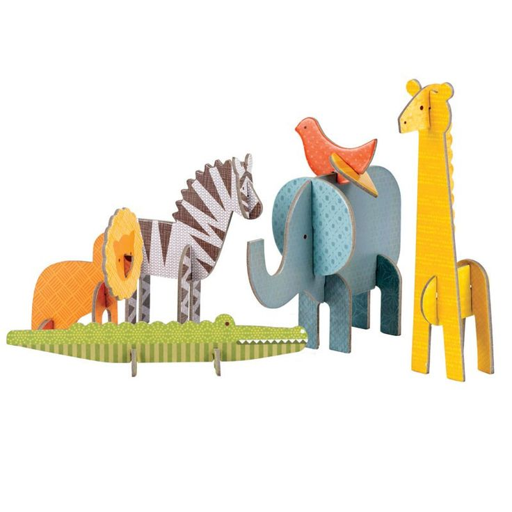 Petit Collage Pop-Out - Safari from Noble Carriage