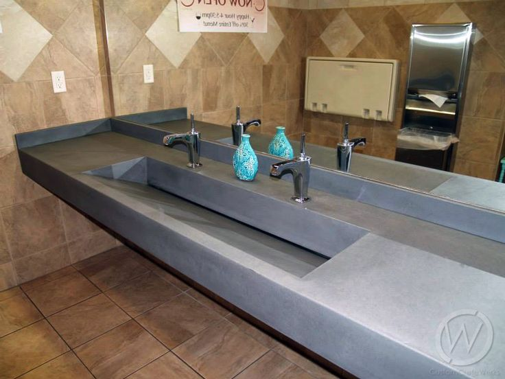 38 Best Images About Bathroom Concrete Sinks Countertops On Pinterest Trough Sink