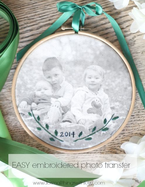 embroidered photo transfer, crafts, reupholster