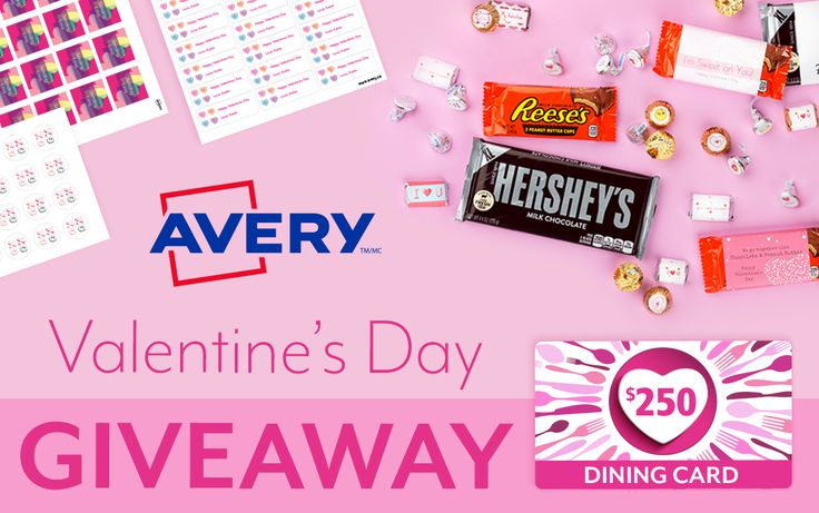 Plus, enter the contest daily for more chances to win DAILY prize packs filled with Hershey's Chocolates and Avery Products.  Contest closes February 10th, 2017. 11:59:59 PM EST
