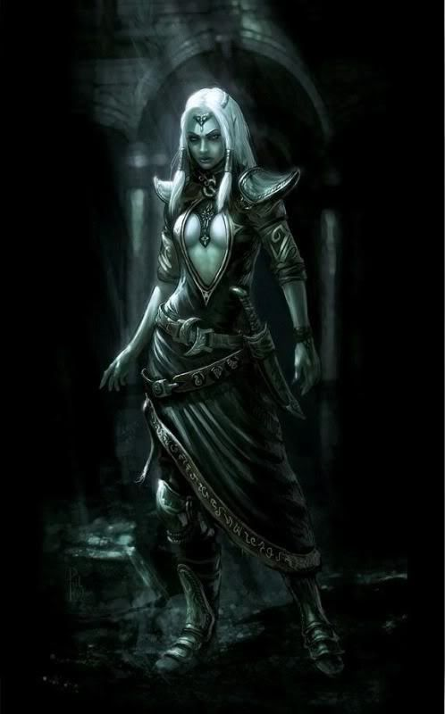 Zinzerena was the drow goddess of chaos and assassins until Lolth killed her and took her portfolio.