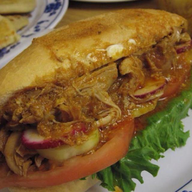 Pan con Pavo( turkey sandwich) Salvadorean Recipe..