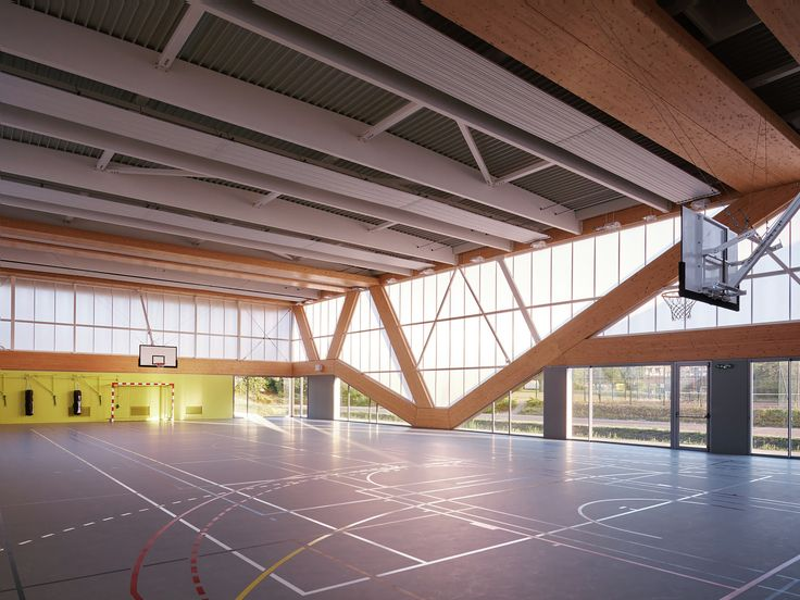 Image 1 of 32 from gallery of Nathalie Mauclair Gymnasium / SCHEMAA. Photograph by David Foessel