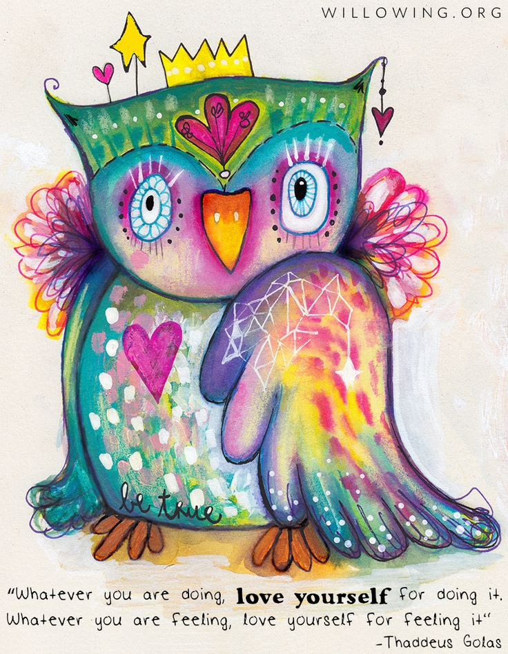 Love, seems to be the only way. This quirky bird agrees! :)