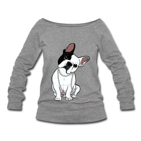 """Tee-shirt fashion ""Sucette"" french bulldog designed by my friend designer Lili Chin (www.doggiedrawings.net) For each purchase made in this shop, a partial retransfer will be made to the french bulldog rescue organization BOULEDOGUE ATTITUDE (www.bouledogueattitude.com)."""
