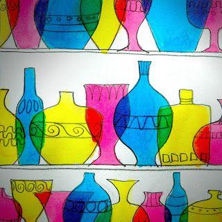 Murano glassware shelf - color theory