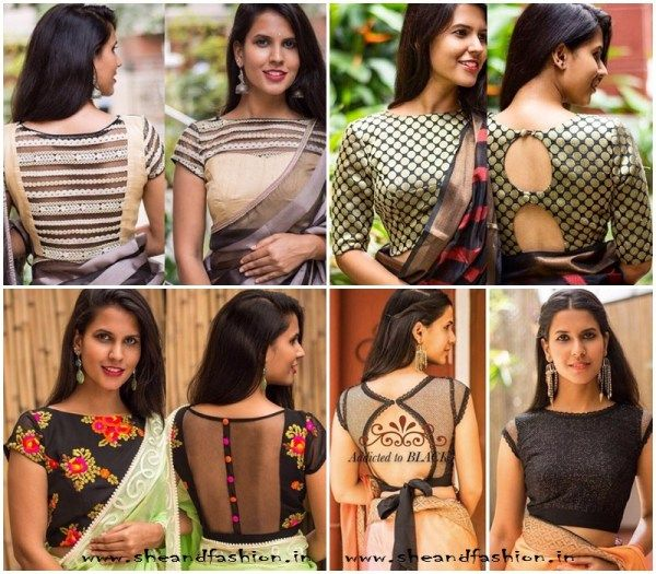 Latest Blouse Neck Designs Front and back