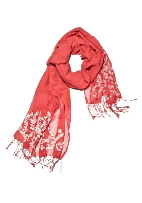 Copper Thermal Embroidered Scarf by Lucky Brand