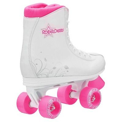 Roller Derby Girls' Roller Star 350 Quad Skates - White/Pink 3, Variation Parent