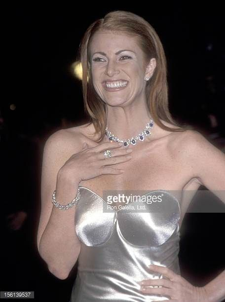 Actress Angie Everhart attends the Sixth Annual Vanity Fair Oscar Party on March 21 1999 at Morton's Restaurant in West Hollywood California