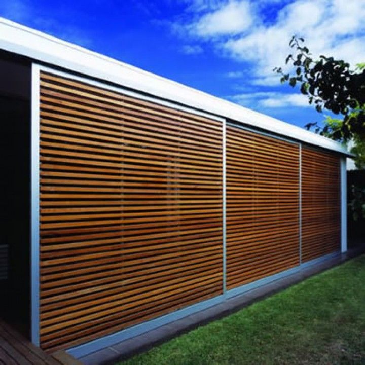 Western red cedar slatted screen inspiration for our for Wood screen fence