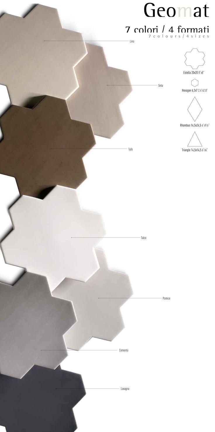 tonalite collezione geomat forme Estella Rhombus Triangle Hexagon tiles piastrelle shape pattern design arredamento azulejos carreaux rivestimento walltiles pavimento floortiles 7colori madeinitalywithpassion ceramicsofitaly italianstyle