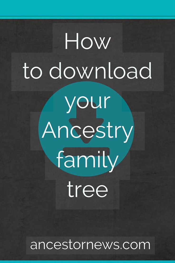 It's easier than you think to download your Ancestry family tree http://ancestornews.com/download-ancestry-family-tree/?utm_campaign=coschedule&utm_source=pinterest&utm_medium=Nancy%20Hendrickson&utm_content=How%20to%20Download%20Your%20Ancestry%20Family%20Tree Use my illustrated guide and download your tree in just a few minutes. (Don't ever go without a backup!)