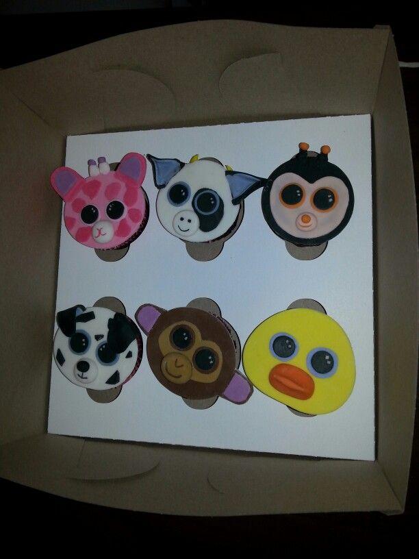 Beanie Boo Cupcake Toppers | mmmm....cakes. | Pinterest ...