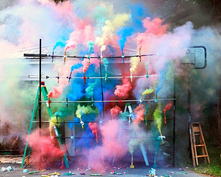 The Art of Smoke Bombs and Fireworks by Olaf Breuning fireworks