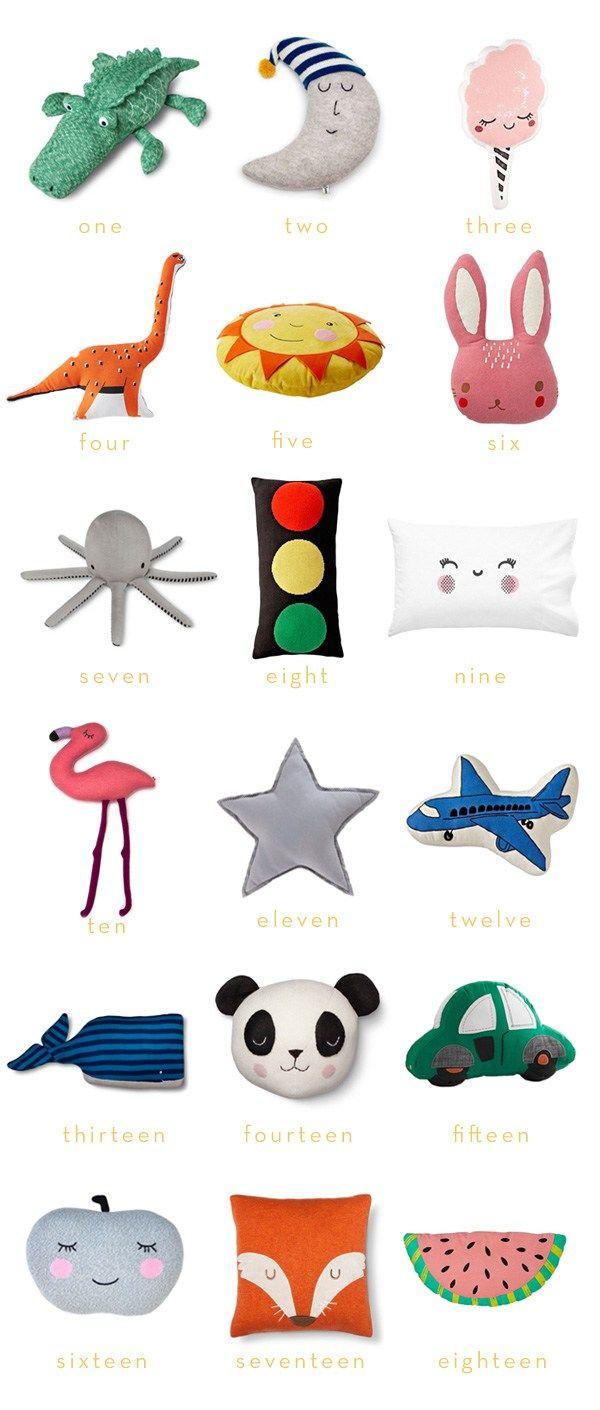 Modern Throw Pillows for Kids | Thrifty Littles Blog