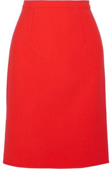 OSCAR DE LA RENTA Wool-blend pencil skirt. #oscardelarenta #cloth #skirts