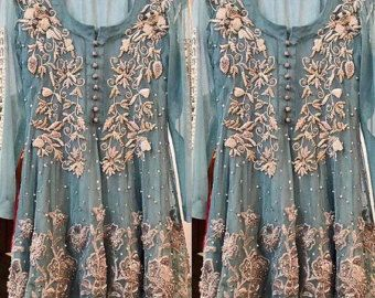 Pakistani Wedding Dress Gold Goddess by KaamdaniCouture on Etsy