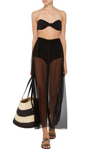 PRISM   Baja Black Long A Line Skirt