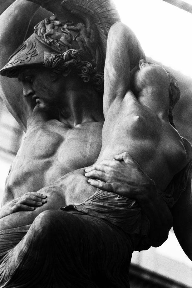 Achilles and Polyxena, sculpture by Pio Fedi.