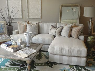 Quatrine Manhattan Beach eclectic sectional sofas