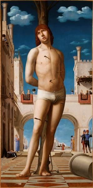Antonello da Messina, Der heilige Sebastian (Venezia, ca. 1478, Gemäldegalerie Alte Meister, Dresden)