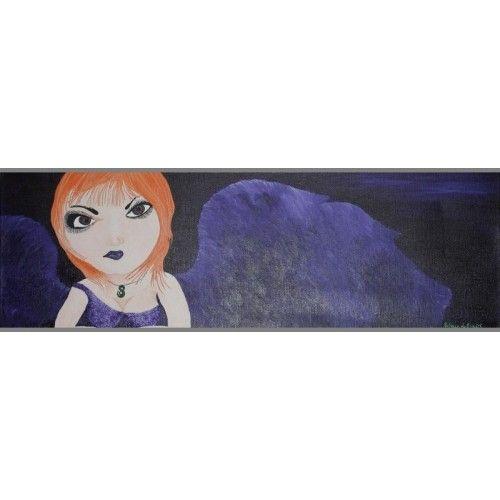 Moonlight Gothling - Original Acrylic Painting by Rebecca Rawhiti