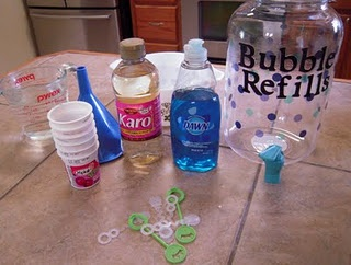 Make your own bubbles!: Refill Container, Idea, Corn Syrup, Kids Stuff, Bubbles Recipes, Bubbles Refill, Home Daycares, Homemade Bubbles, Diy Bubbles