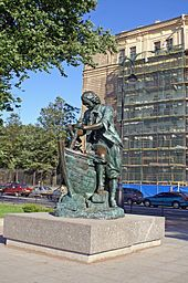 The 1782 statue of Peter I in Saint Petersburg, informally known as the Bronze Horseman-