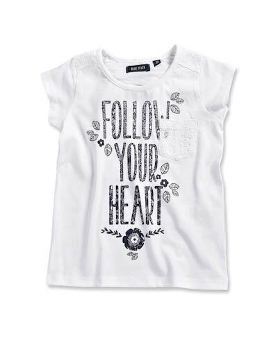 Follow your heart - T-shirt - wit - mini - fourseasonsshop.nl - Four Seasons Shop