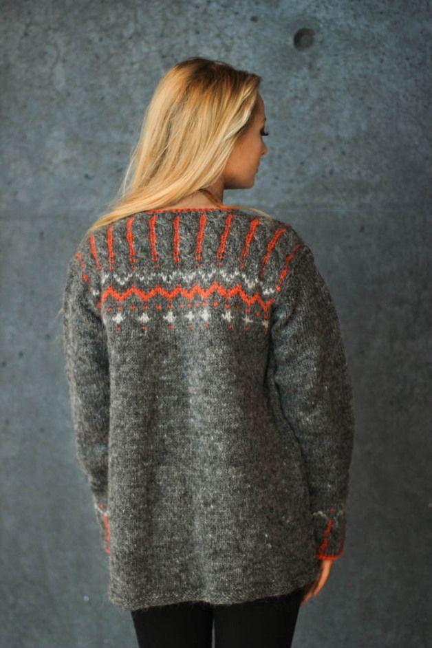 via en.dawanda.com Cardigans – Cardigan by Lopia, handknitted wool. – a unique product by SundayCreations on DaWanda