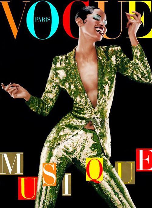 Naomi Campbell on the cover of Vogue Paris. Photo: Jean Baptiste Mondino.