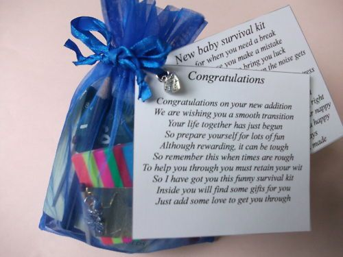 details about new dad survival kit gift card baby shower boy or girl