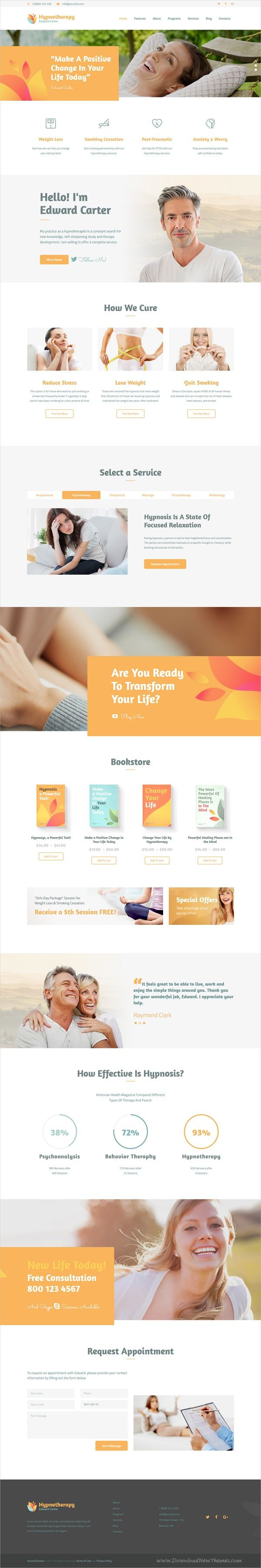 Advanced functionality and beautiful design responsive #WordPress theme for a #psychotherapist, hypnotherapy specialist, psychologist, personal #coach / trainer, as well as #medicine related website download now➩ https://themeforest.net/item/hypnotherapy-and-psychologist-wp-theme/19560848?ref=Datasata